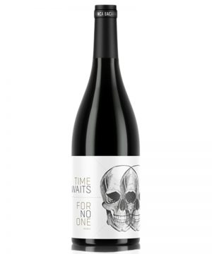 time-waits-for-no-one-white-skulls-finca-bacara-shelved-wine