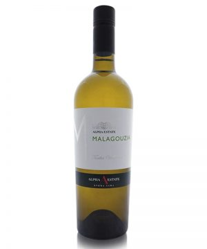 malagouzia-single-vineyard-turtles-alpha-estate-shelved-wine