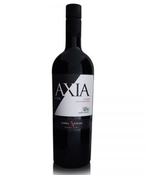 xinomavro-syrah-axia-alpha-estate-shelved-wine